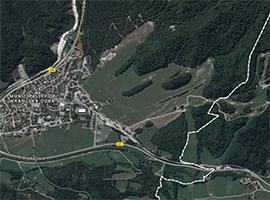 kranjska gora zemljevid